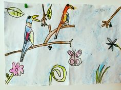 Birds and butterflies! Looks like springtime! Made by Andrew, 9 years old, Artist Of The Day on 04/20/2013 • Art My Kid Made #kidart #springtime