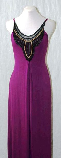 Beaded purple maxi dress