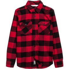 Flannel Shirt $19.99 ($20) ❤ liked on Polyvore featuring tops, collared shirt, flannel top, red plaid shirt, plaid collared shirts and flannel shirt