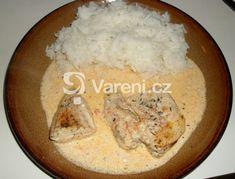 Recept na moc dobrý oběd - kuřecí maso ve voňavé smetanové omáčce.