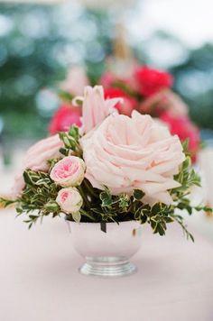 flowers, silver vase