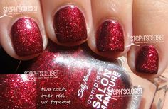 As glittery as Dorothy's red shoes  Sally Hansen #FingerParty