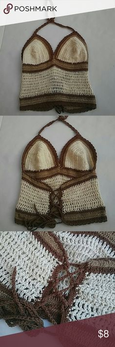 Crochet Halter top Gently used in great conditon Crochet Halter top (: Tops