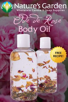 Free Ode De Rose Body Oil Recipe by Natures Garden.