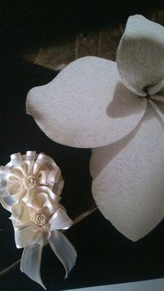 aplique comunion arras en beige de Errederosa complementos por DaWanda.com