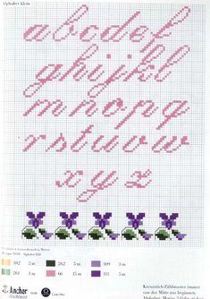 Alphabet violettes (2)