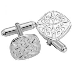 aa70184fa These hallmarked Square Celtic Knot design men's sterling silver cufflinks  are the ultimate accessory to compliment