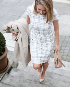 DRESS: Dress the Population | COAT: Topshop (similar HERE, HERE and HERE) | SHOES: Kate Spade New York (similar HERE, HERE and HERE) | BAG: Dolce&Gabbana | EARRINGS: Ann Taylor | LIPS: Buxom (Brooklyn