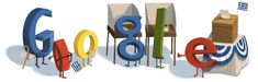 google doodle dedicated to greek elections
