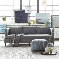 Reina Pouf In Grey Living Room Furniture Sets, Living Room Sets, Furniture  Decor,