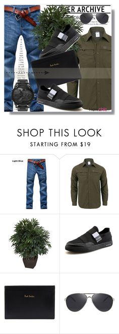 """""""Newchic Anniversary SALE !"""" by dianagrigoryan ❤ liked on Polyvore featuring Nearly Natural, Paul Smith, Diesel, men's fashion and menswear"""