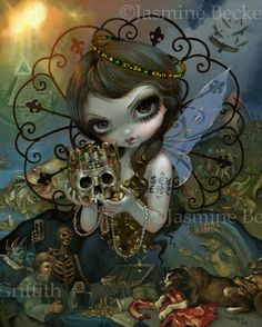 The Scarecrow by Jasmine Becket-Griffith Art Print Gothic Black Cat Bird Poster