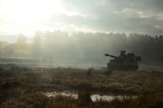 M109A6 Paladin of the 82nd Field Artillery Regiment, during a training exercise in Germany, November 8, 2014.