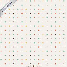Vintage dots pattern - geboortekaartje