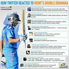 Twitter reactions on Rohit Sharma's 264 run plunder against #SriLanka #IndvSL