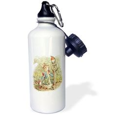 3dRose Peter Rabbit in the Garden - Vintage Art, Sports Water Bottle, 21oz