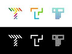 Logo Explorations - T by Jeroen van Eerden on Dribbble Handwritten Typography, Letter T, Logo Design, Branding, Explore, Logos, Inspiration, Handwriting, Ferrari