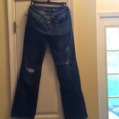American eagle boot cut size 6 jeans American eagle boor cut jeans distressed. American Eagle Outfitters Jeans Flare & Wide Leg
