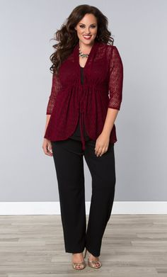 For a nice dinner at home this Thanksgiving, layer on the style in our plus size Bohemian Crochet Bellini.  Browse our entire made in the USA collection online at www.kiyonna.com.  #KiyonnaPlusYou
