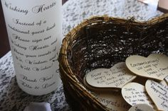 Wishing Hearts Guest Book Alternative Set by thepaperynook on Etsy    √ put small hole in wooden heart & use small ribbon or twine to hang it on the Wishing Tree