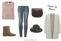 Styled by Manon #70: fedora hat, MbyM sweater, Mango boots, Levi's jeans, Mango bag, Mango hat, American vintage cardigan
