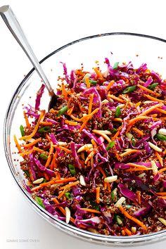 Easy Asian Quinoa Salad | gimmesomeoven.com