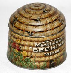 101370: 'MACKINTOSH'S BEEHIVE TOFFEE' TIN, ANTIQUE : Lot 101370