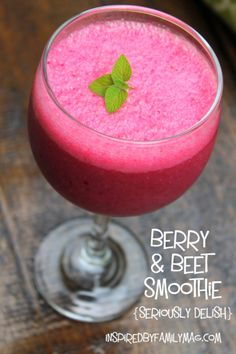 Berry & Beet Smoothie- How do you sneak veggies into your meals? Just FYI my kids asked for 2nds they had no idea they were eating their veggies!