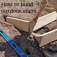Outside steps down a hill – I would love to do this to our fire pit. So much eas… Outside steps down a hill – I would love to do this to our fire pit. So much easier than trying to walk down the hill w/out falling! Backyard Projects, Outdoor Projects, Garden Projects, Lawn And Garden, Home And Garden, Hill Garden, Outside Steps, Sloped Yard, Outdoor Steps