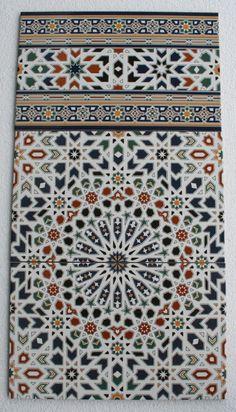 orientalische Mosaik Keramik Wandfliesen Fliesen bunte Kacheln Magribia 40x25cm