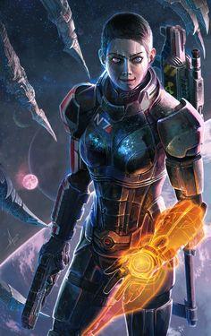 Renegade Female Shepard fanart
