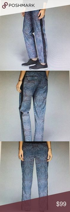 NWT lululemon rise & shine trousers size 8 Get there without a fuss, these easy fitting, hip slung pants were designed for all day every day comfort. Light weight fabric is sweat wicking and four way stretch. flip out the back pockets for reflective details that help you shine bright in low light. Hidden pocket helps you keep your phone in place. Straight fit. lululemon athletica Pants Trousers