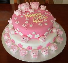 pig images | Next cake is a week on Saturday where I have to make a beautiful pink ...