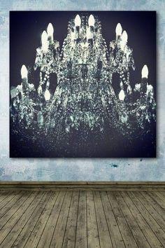 Gorgeous chandelier canvas