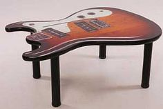 Electric Guitar Coffee Table #wedding www.BlueRainbowDesign.com