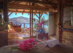 Kalkan Fidanka Hotel'in Romantik Balayı Odası. Fidanka'da Oda Fiyatları 2 Kişi 285 TL'den başlıyor. Oteli inceleyin!