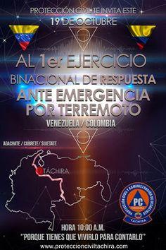 PROTECCIÒN CIVIL TÀCHIRA: Protección Civil Táchira Te Invita este 19 de Octu...