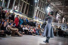 Opera kolejowa na Dworcu Wschodnim w Warszawie - Program - 250 lat Teatru Publicznego w Polsce Program, My Works, Times Square, Opera, Costumes, Clothes, Outfits, Clothing, Opera House