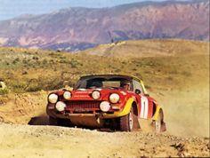 Markku Alén, Fiat Abarth 124 Spider, 1975 Rallye du Maroc