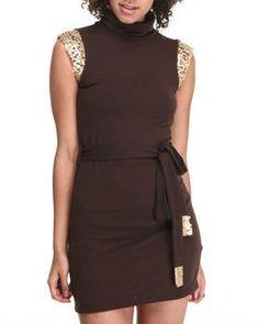 Sleeveless Turtleneck Dress by Fashion Lab @ DrJays.com