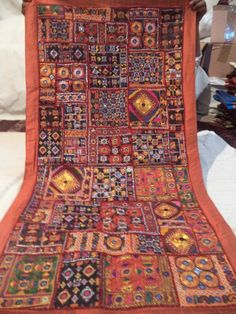 Decorative Indian Wall Hanging Tapestry With Embroidery & Patchwork