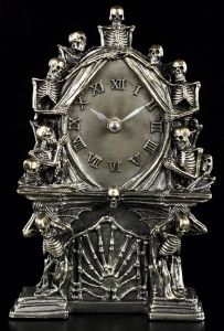 Skeleton Clock - Hell Of Time - silver
