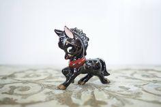 Vintage Black Donkey Figurine // Retro // Antique // MCM // Mid Century Modern // Decor // Adorable // Kitsch // Kitschy // Unique // Old // by AllMyVintageLove on Etsy