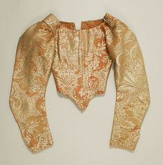 Bodice (front view) Date: 17th century Culture: French Medium: silk Accession Number: C.I.39.13.42