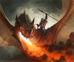 Wizards of the Coast dragon - Jason Chan