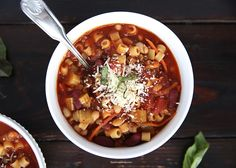Pasta e fagioli soup! This recipe tastes almost identical to Olive Garden's pasta e fagioli (one of my all time favorites)! Not only is this recipe hearty and delicious but it is also pretty healthy! Perfect for a cold winter day. We've been making this soup for a couple of years now and it is …