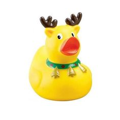 STOCKING STUFFER? Promotional Reindeer Rubber Duck - Promotional Rubber Duck | Imprinted Derby Ducks | Promotional Rubber Ducks