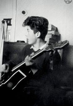 Jimmy Page photographed by Dennis Coffin, late 1950s.