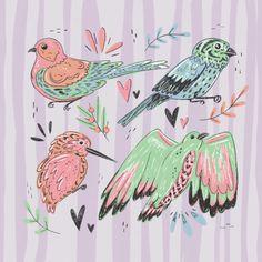 Birds&stripes /jessillustrates