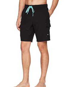 516c9d80ed ZeroXposur Men's Swim Shorts With Pockets Black Size Small #fashion  #clothing #shoes #